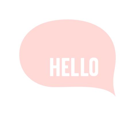 hello speech bubble coral light mod baby » plush + pillows // fat quarter fabric by misstiina on Spoonflower - custom fabric