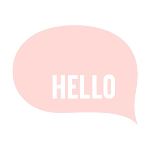 hello speech bubble coral light mod baby » plush + pillows // fat quarter