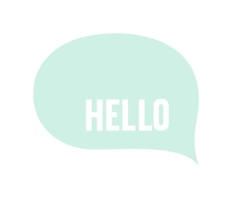 hello speech bubble mint light mod baby » plush + pillows // fat quarter fabric by misstiina on Spoonflower - custom fabric