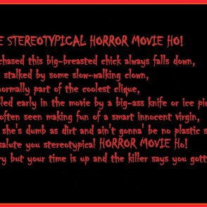 Stereotypical Horror Movie Ho