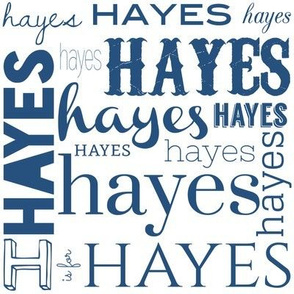 Personalized Hayes in Blue
