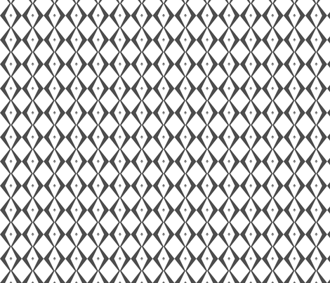diamond black and white fabric by meissa on Spoonflower - custom fabric