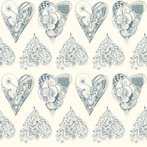 zentangleheart pattern