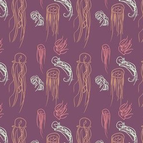 Pink Jellyfish Doodles