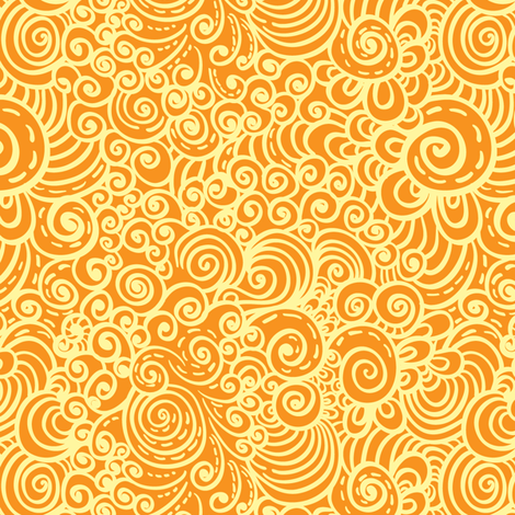 yellow lace fabric by magic_pencil on Spoonflower - custom fabric
