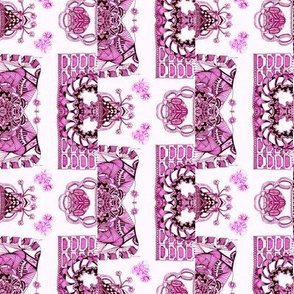 Burgundy and Pink Whimsical Wayward Stripe
