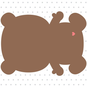bear brown back mod baby » plush + pillows // fat quarter