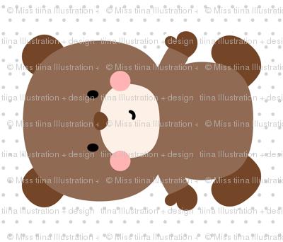 bear brown front mod baby » plush + pillows // fat quarter