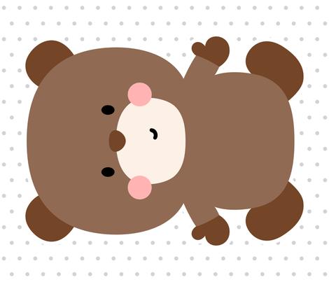 bear brown front mod baby » plush + pillows // fat quarter fabric by misstiina on Spoonflower - custom fabric
