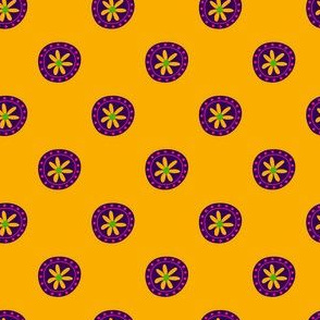 Boho Polkadots Yellow Purple