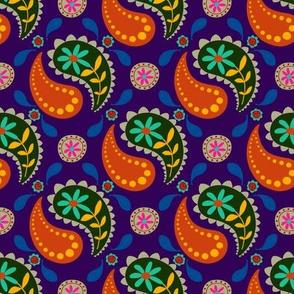 Boho Paisley Purple