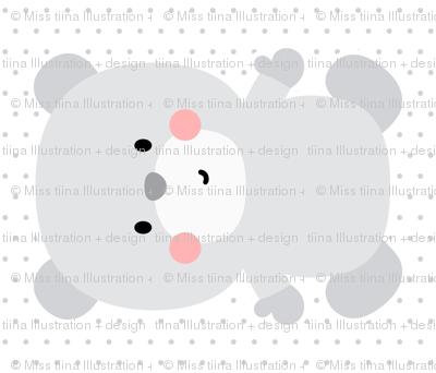 bear grey front mod baby » plush + pillows // fat quarter