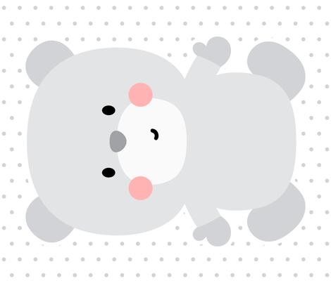 bear grey front mod baby » plush + pillows // fat quarter fabric by misstiina on Spoonflower - custom fabric