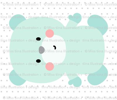 bear mint front mod baby » plush + pillows // fat quarter