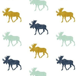 multi moose (small scale) || navy mint mustard
