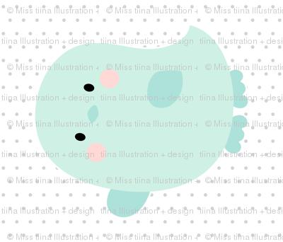 bird mint front mod baby » plush + pillows // fat quarter