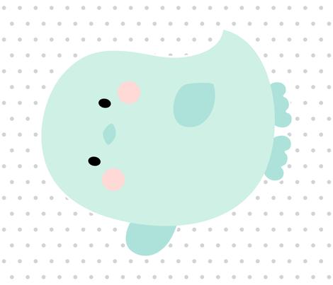 bird mint front mod baby » plush + pillows // fat quarter fabric by misstiina on Spoonflower - custom fabric