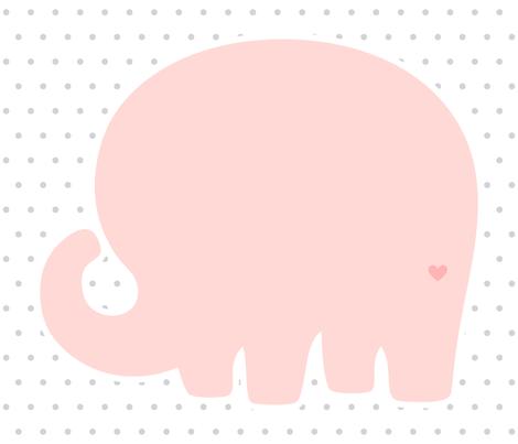 elephant coral back mod baby » plush + pillows // fat quarter fabric by misstiina on Spoonflower - custom fabric