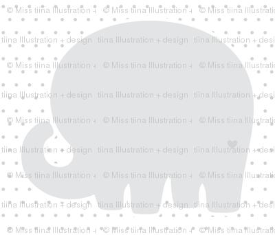 elephant grey back mod baby » plush + pillows // fat quarter