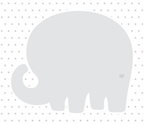 elephant grey back mod baby » plush + pillows // fat quarter fabric by misstiina on Spoonflower - custom fabric