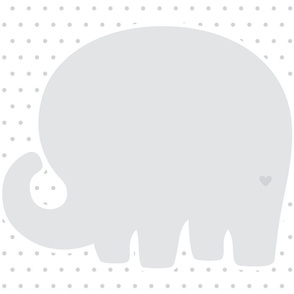 elephant grey back mod baby » plush + pillows // fat quarter