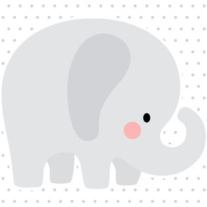 elephant grey front mod baby » plush + pillows // fat quarter