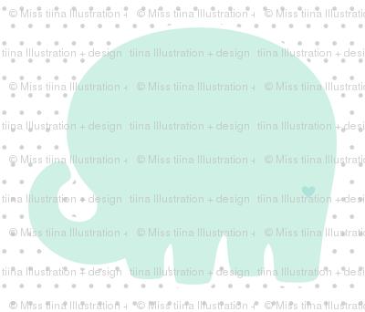 elephant mint back mod baby » plush + pillows // fat quarter