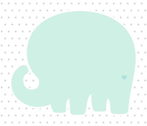 elephant mint back mod baby » plush + pillows // fat quarter fabric by misstiina on Spoonflower - custom fabric