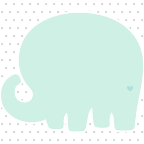elephant mint back mod baby » plush + pillows // fat quarter