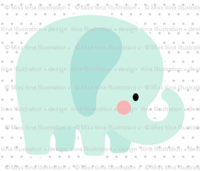 elephant mint front mod baby » plush + pillows // fat quarter