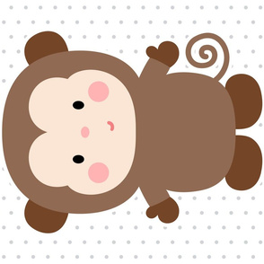 monkey brown front mod baby » plush + pillows // fat quarter