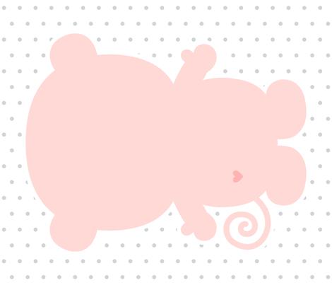 monkey coral back mod baby » plush + pillows // fat quarter fabric by misstiina on Spoonflower - custom fabric