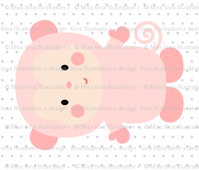 monkey coral front mod baby » plush + pillows // fat quarter