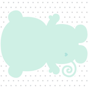 monkey mint back mod baby » plush + pillows // fat quarter