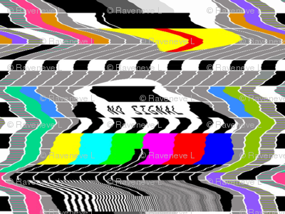 tv television test cards patterns rainbow multi colors colorful signals PM5544 PAL analogue retro tuning reception resolution antenna broadcast pop art media video glitches poor distortion noisy noise static errors broken transmission wavy waves