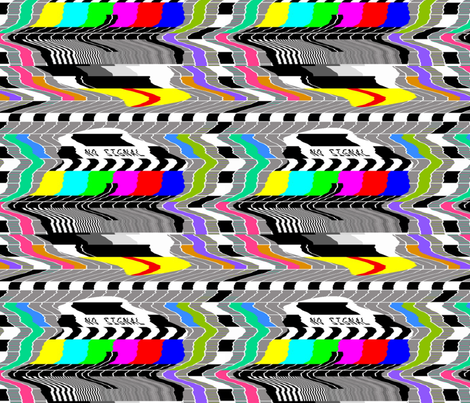 tv television test cards patterns rainbow multi colors colorful signals PM5544 PAL analogue retro tuning reception resolution antenna broadcast pop art media video glitches poor distortion noisy noise static errors broken transmission wavy waves fabric by raveneve on Spoonflower - custom fabric