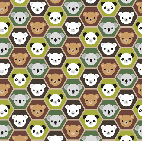 I Like Bears fabric by marcelinesmith on Spoonflower - custom fabric