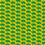 Bison Print - Gold & Green