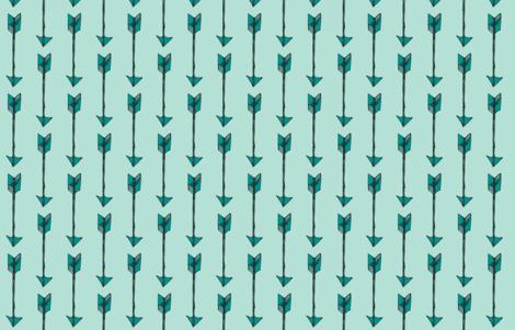 Arrows - Teal fabric by kelly_korver on Spoonflower - custom fabric