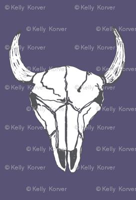 Bull Skull - Plum