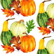 Watercolor Pumpkins