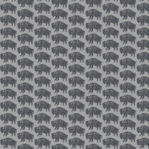Bison Print - Charcoal