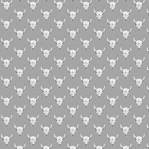 Bull Skull - Grey