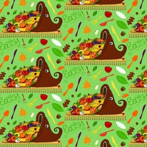 sept2016autumnharvest thanksgiving cornucopia, small scale, green colorful