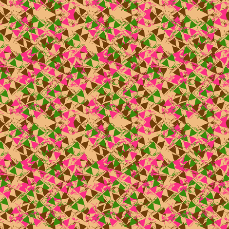bikinis warm colours fabric by fabiennegood on Spoonflower - custom fabric