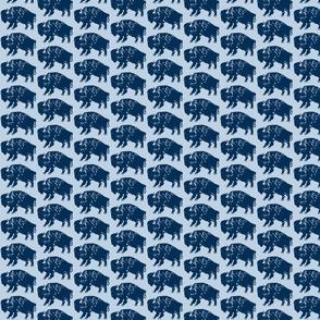 Bison Print - Navy