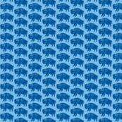 Bison Print - Indigo