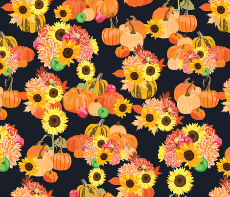 Autumn Harvest 2 fabric by vieiragirl on Spoonflower - custom fabric