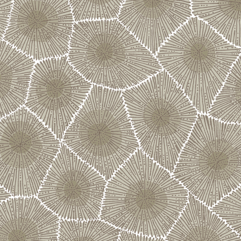petoskey stone - natural extra-large fabric by weavingmajor on Spoonflower - custom fabric