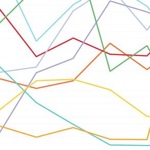 Line Chart in Jewel Bright